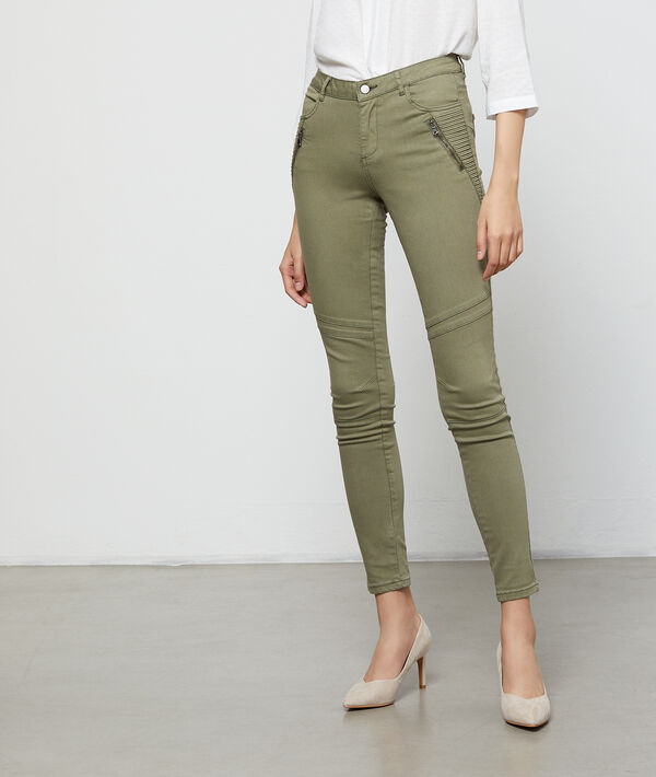 Pantalon slim à poches zippées