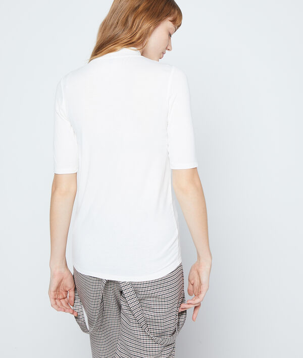 T-shirt col roulé à manches courtes