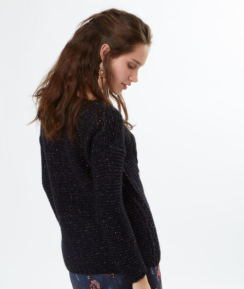 Pull tricot pailleté à base de mohair