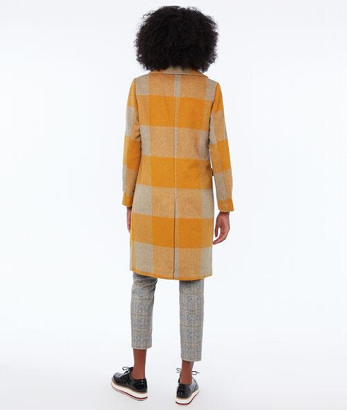Manteau long à carreaux