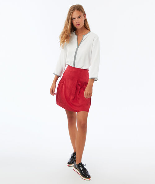 Blouse col V manches 3/4