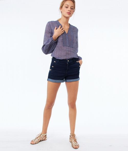 Short avec poches boutonnées