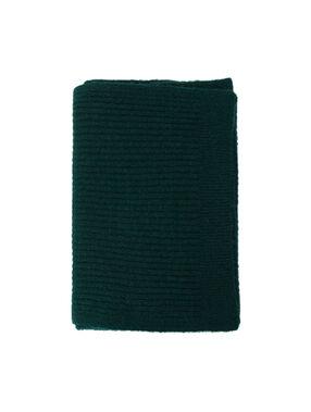 Écharpe fil métallisé vert forêt.