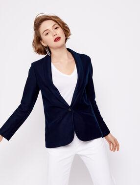 Veste de tailleur 100% coton marine.