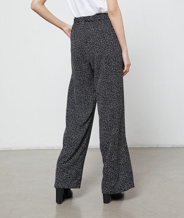 Pantalon large à motifs coeur
