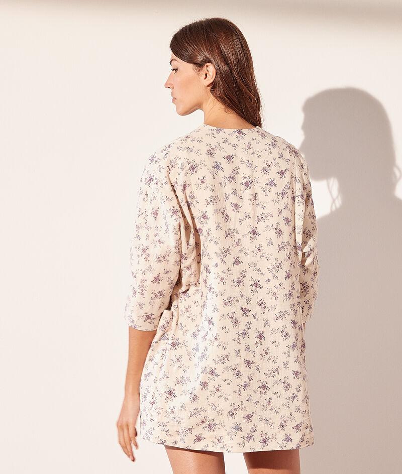 Veste kimono imprimée en gaze de coton