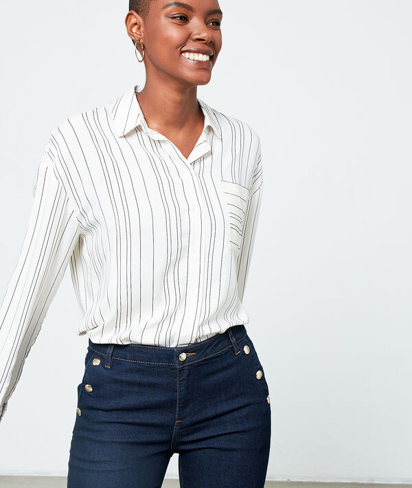 Chemise à rayures - STYLA - 34 - Blanc - Femme - Etam