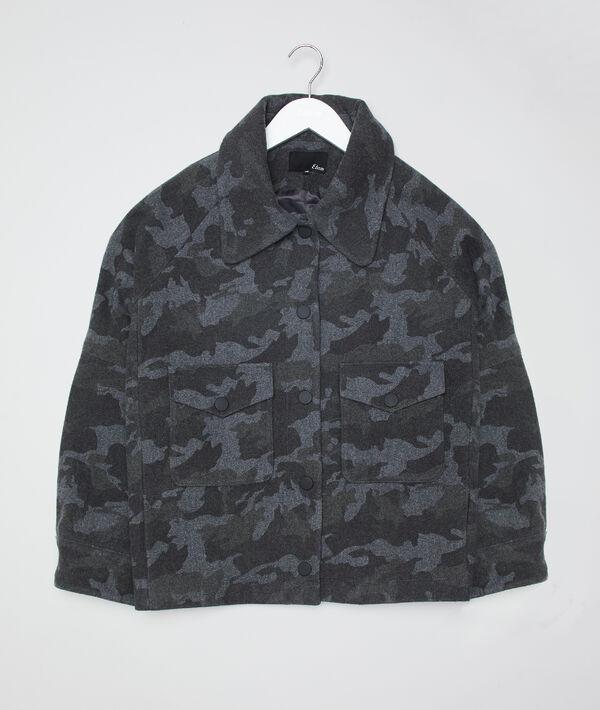 Manteau court imprimé camouflage