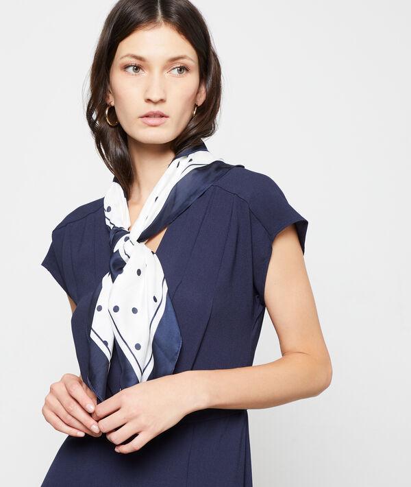 Foulard à pois - POLKA - TU - Bleu - Femme - Etam