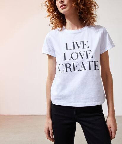 "T-shirt ""Live, Love, Create"""