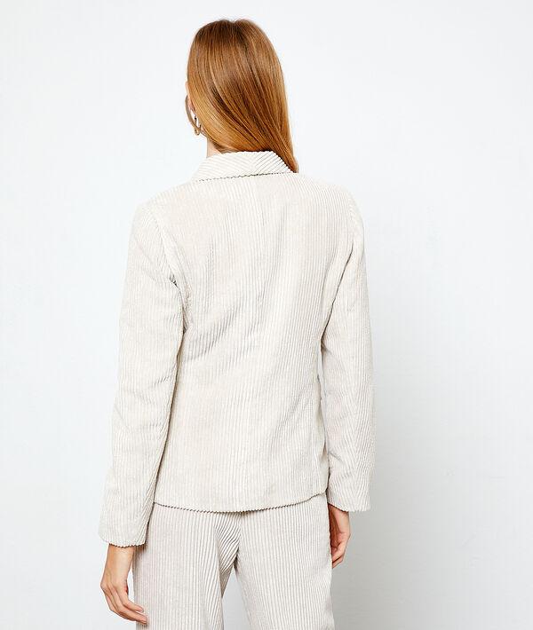 Veste de tailleur en velours côtelée