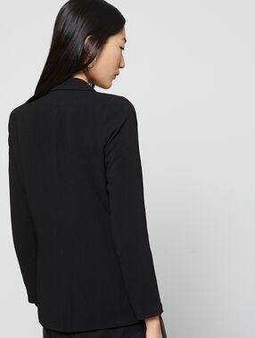 Veste de tailleur doublure colorée noir.