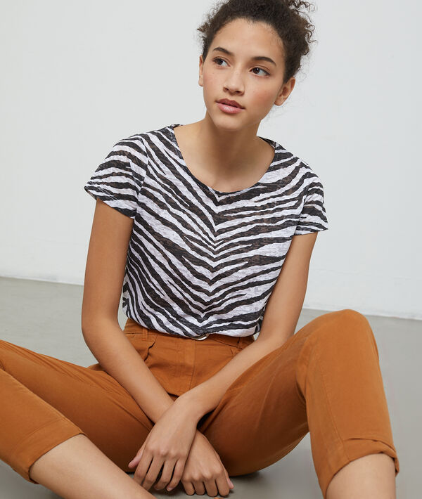 T-shirt à imprimé zèbre