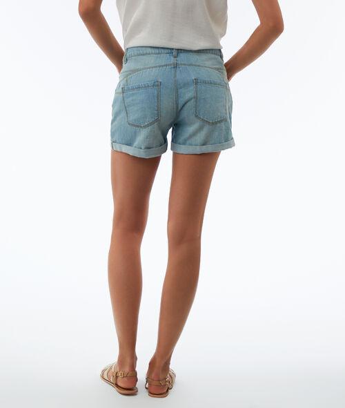 Short en jean effet déchiré