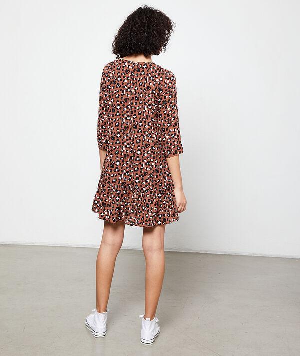Robe fluide imprimé léopard