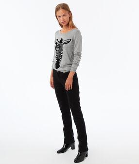 Pantalon coupe droite noir.