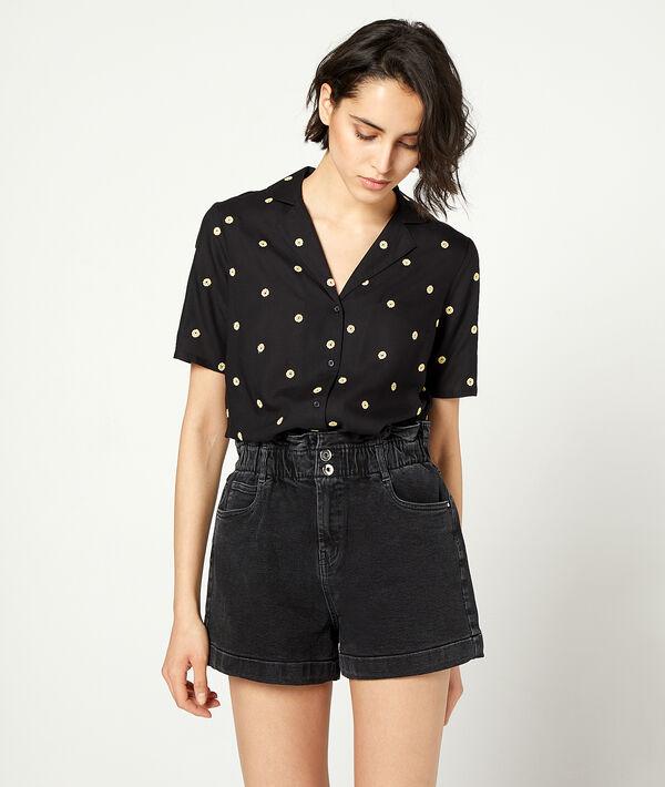 Short en jean - DELPHINE - 40 - Noir - Femme - Etam
