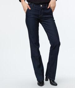 Pantalon évasé brut.