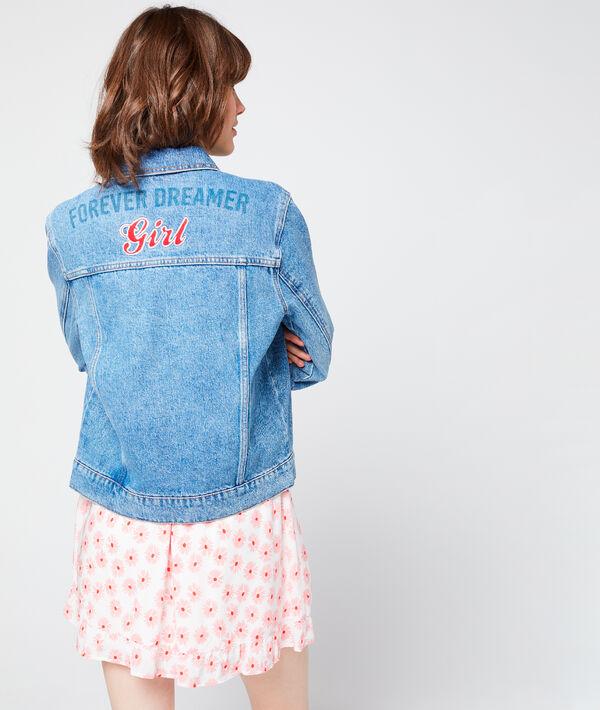 """Veste en jean """"Forever dreamer girl"""""""