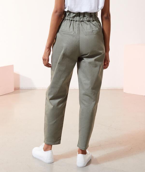 Pantalon carotte taille haute