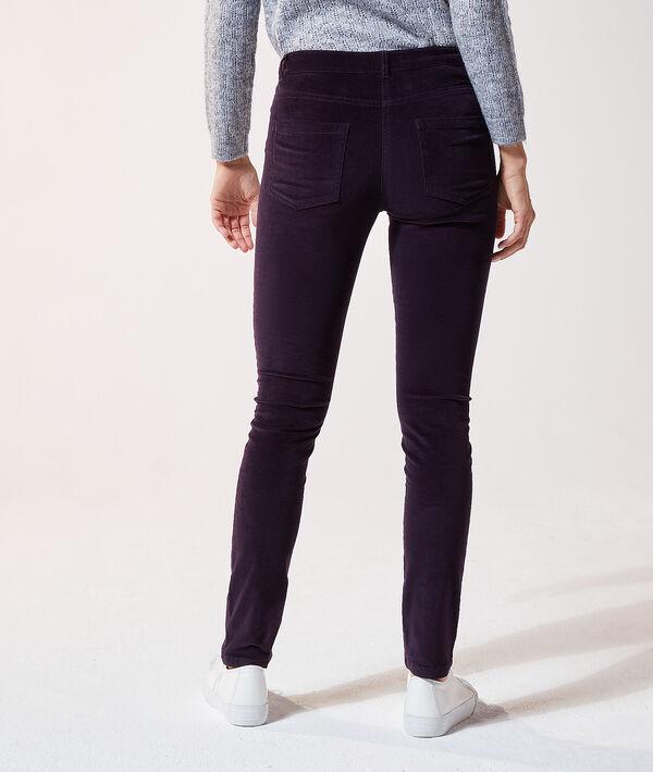 Pantalon en velours slim
