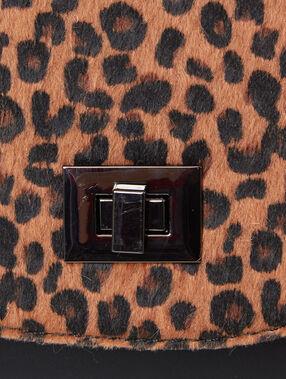 Besace imprimé léopard noir.