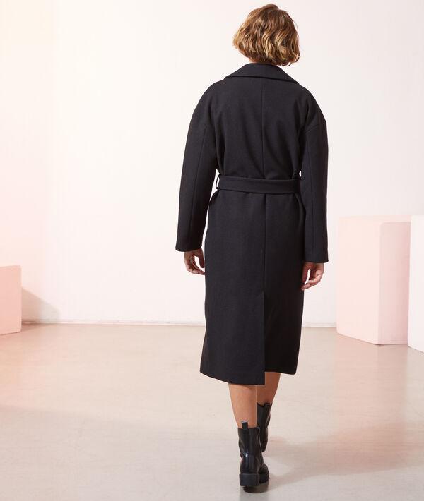 Manteau droit avec ceinture