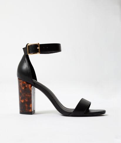Sandales à talons ambrés