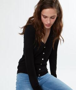 Cardigan tricot noir.