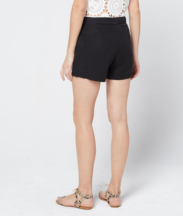 Short ceinturé en tencel®