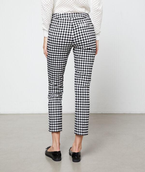 Pantalon à imprimé vichy