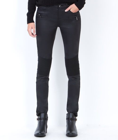 Pantalon slim aspect enduit
