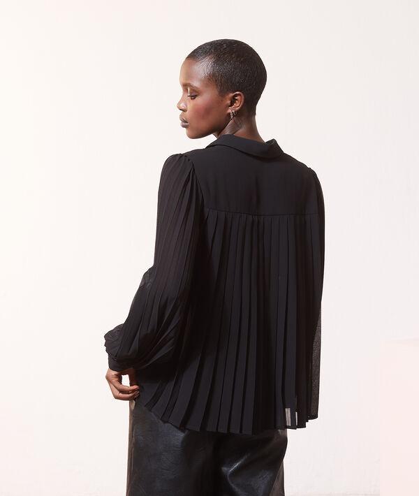 Chemise à volage plissé