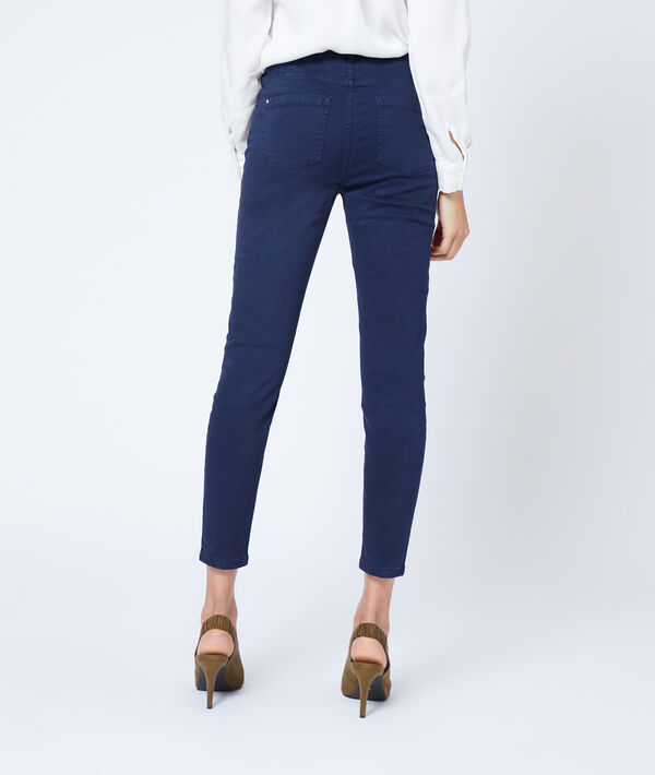 Pantalon court slim en coton