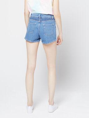Short en jean délavé bleach.
