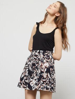 Jupe patineuse à imprimé floral black.