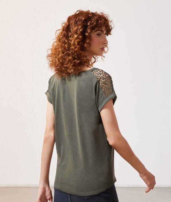 T-shirt détail dentelle