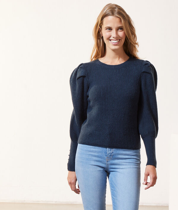 Pull en maille manches bouffantes
