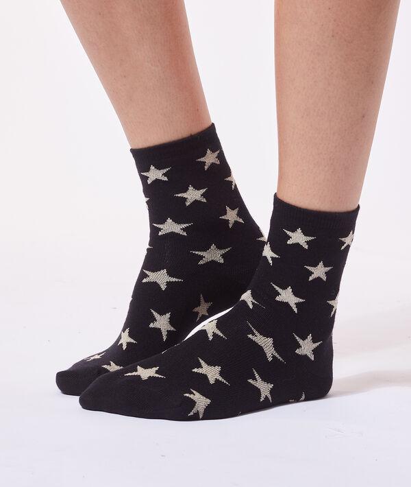 Chaussettes étoiles à fils métallisés