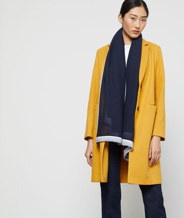 Foulard plissé multicolore