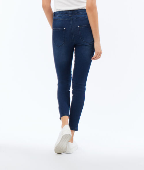 Jean skinny avec zip sur le côté