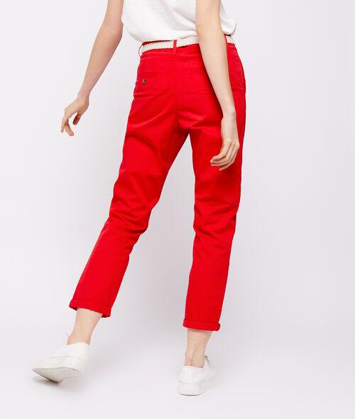 Pantalon ceinturé 100% coton bio