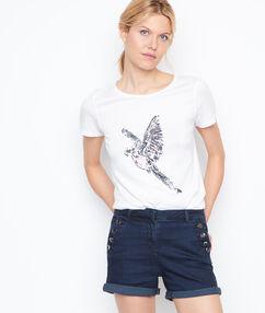 Short en jean boutonné denim.