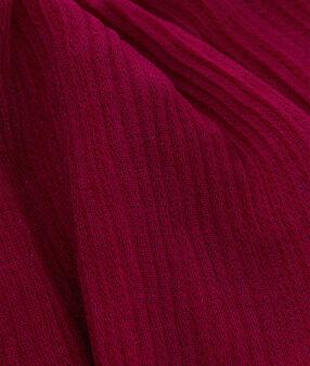 Écharpe détail fil métallisé fuchsia.