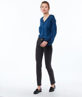 Blouse manches oversize bleu d'encre.