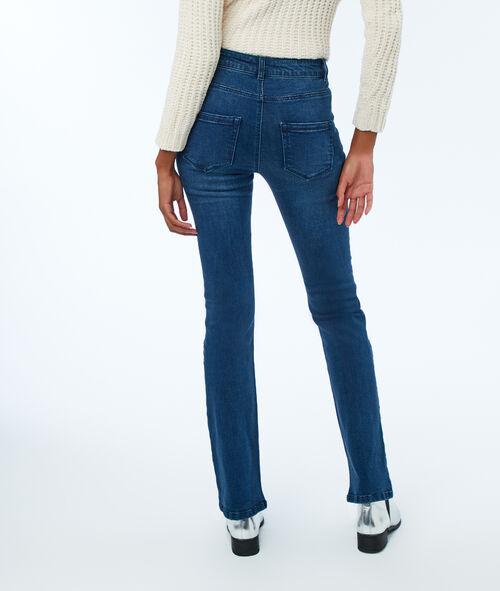 Jeans flare boutonné à l'avant