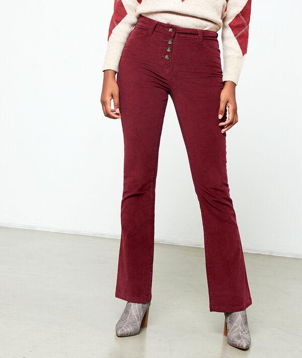 Pantalon flare effet velours