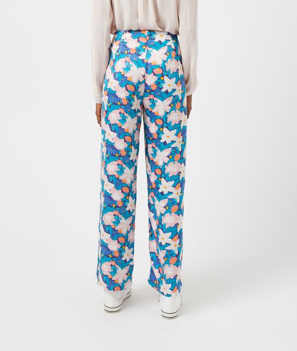 Pantalon large imprimé fleuri