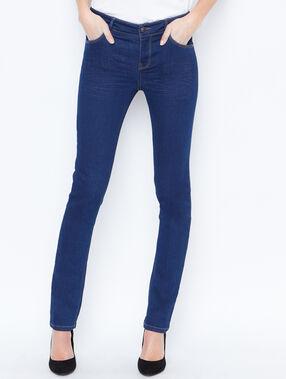 Jean slim bleu brut.