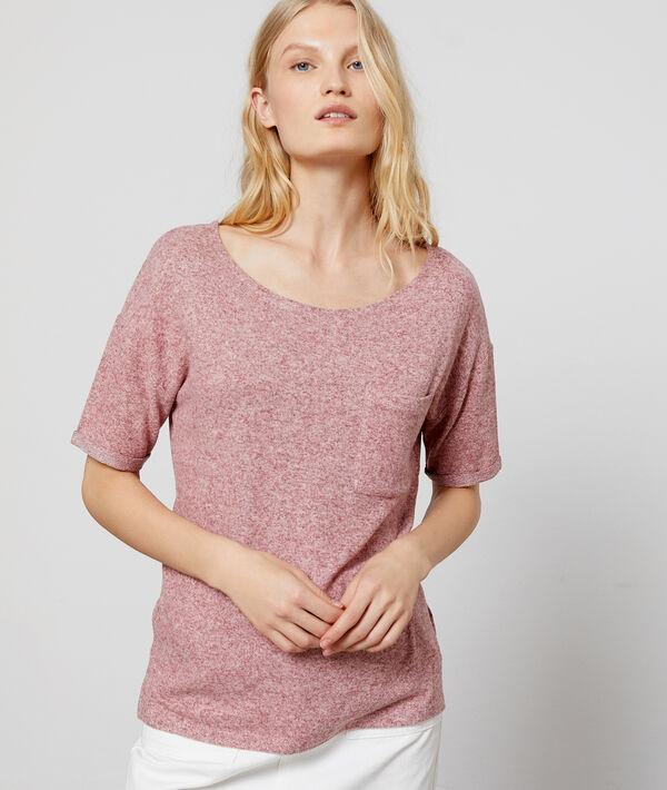 T-shirt chiné à col rond